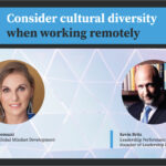 Consider cultural diversity when working remotely